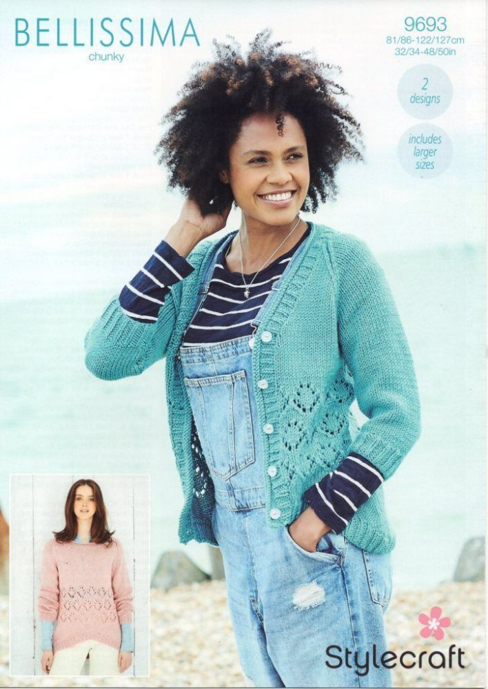 SCP Bellissima Chunky Pattern 9693 Sweater and Cardigan